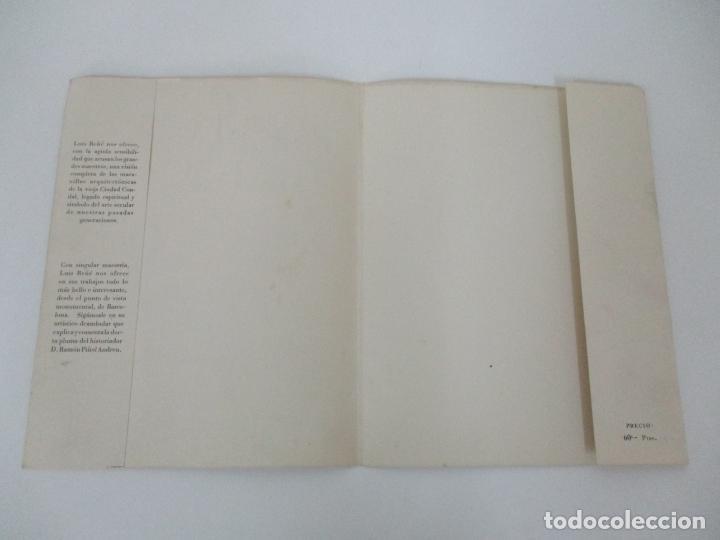 Arte: Barcelona Historica - Luís Reñé - Carpeta con 11 Láminas con dibujos - Dedicatoria Autógrafa - 1959 - Foto 11 - 156980626