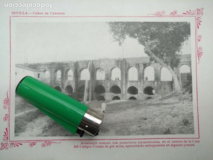 LAMINA SEVILLA FOTOGRAFIA HUECOGRABADO FOTOGRAFICO AÑO 1900 - 19X13,5 CM VISTA CIUDAD PARA ENMARCAR (Arte - Láminas Antiguas)