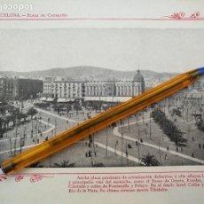 Arte: LAMINA BARCELONA HUECOGRABADO FOTOGRAFICO AÑO 1900 19X13,5 CM VISTA FOTOGRAFIA CIUDAD PARA ENMARCAR . Lote 158661402