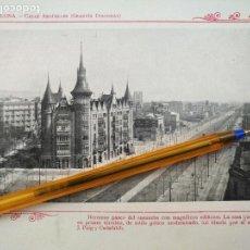 Arte: LAMINA BARCELONA HUECOGRABADO FOTOGRAFICO AÑO 1900 19X13,5 CM VISTA FOTOGRAFIA CIUDAD PARA ENMARCAR . Lote 158661414