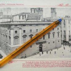 Arte: LAMINA BARCELONA HUECOGRABADO FOTOGRAFICO AÑO 1900 19X13,5 CM VISTA FOTOGRAFIA CIUDAD PARA ENMARCAR . Lote 158661646