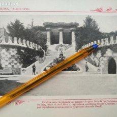 Arte: LAMINA BARCELONA HUECOGRABADO FOTOGRAFICO AÑO 1900 19X13,5 CM VISTA FOTOGRAFIA CIUDAD PARA ENMARCAR . Lote 158661818