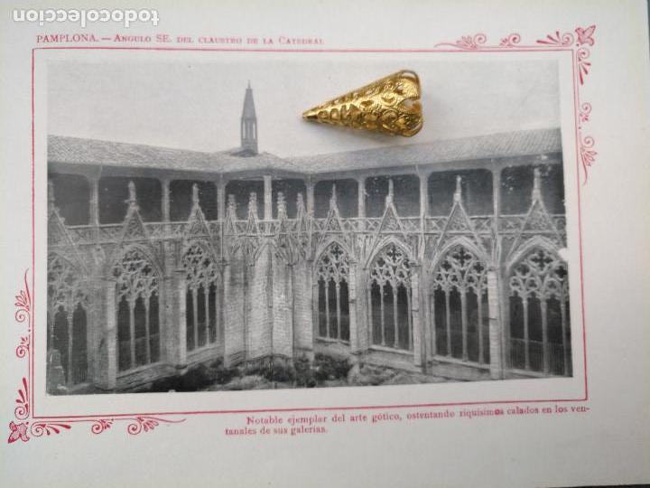 LAMINA SAN PAMPLONA HUECOGRABADO FOTOGRAFICO 1900 19X13,5CM VISTA FOTOGRAFIA CIUDAD PARA ENMARCAR (Arte - Láminas Antiguas)