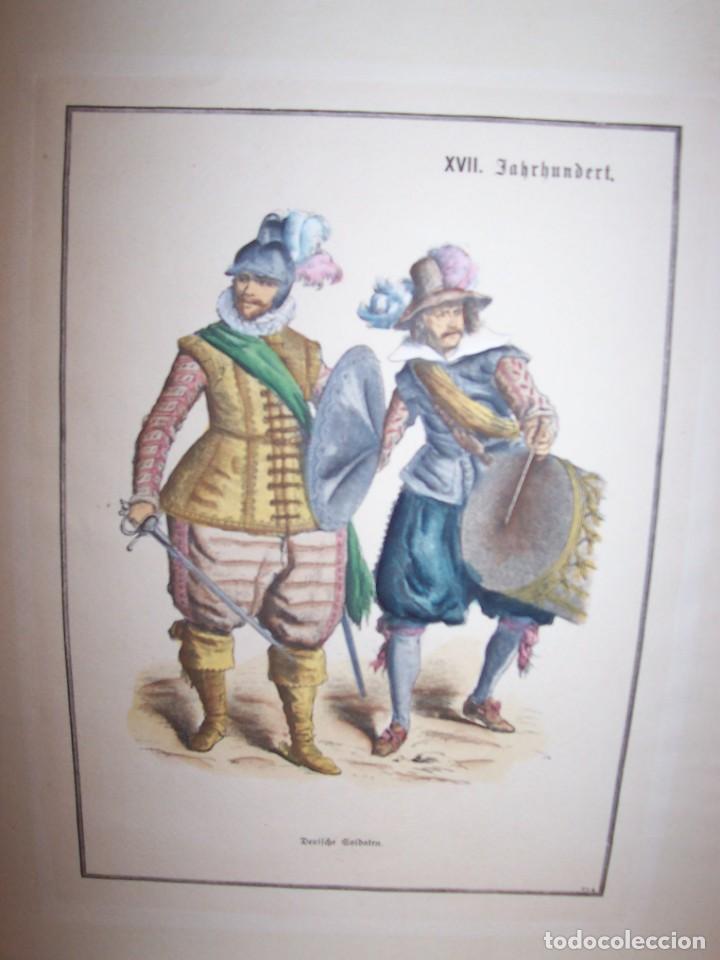 Arte: Lámina DEL SIGLO XX de soldados alemanes del siglo XVII - Foto 2 - 159065974