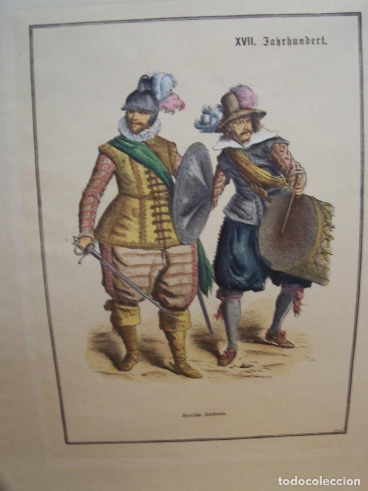 Arte: Lámina DEL SIGLO XX de soldados alemanes del siglo XVII - Foto 3 - 159065974