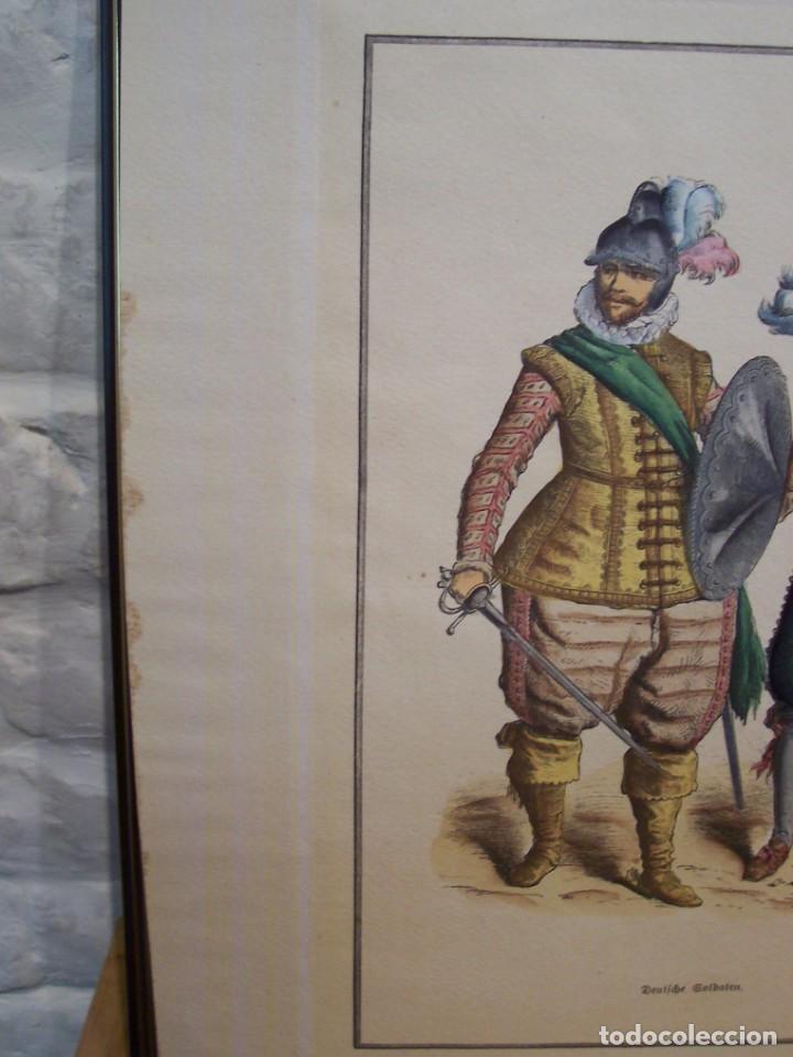 Arte: Lámina DEL SIGLO XX de soldados alemanes del siglo XVII - Foto 4 - 159065974