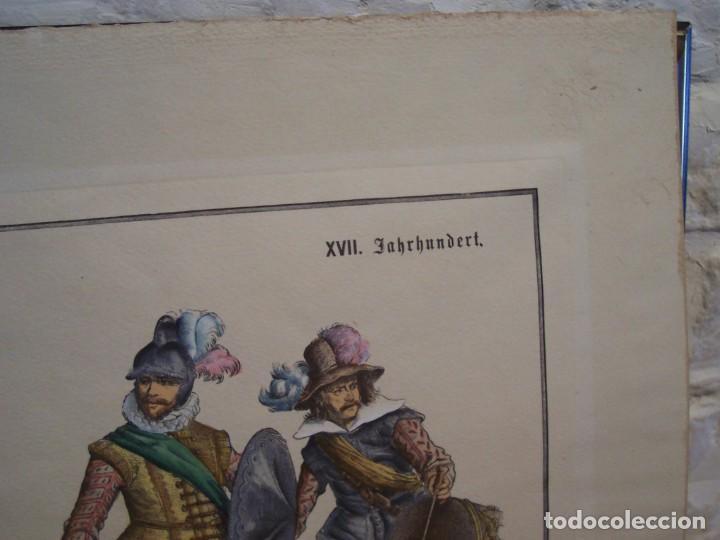 Arte: Lámina DEL SIGLO XX de soldados alemanes del siglo XVII - Foto 5 - 159065974