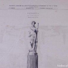 Arte: FONTAINE. PARIS 1873. Lote 160166298