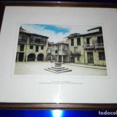 Arte: CUADRO-LÁMINA-CRUCEIRO DA PONTE PONTEVEDRA-MARCO+CRISTAL-VER FOTOS. Lote 160297530