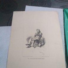 Arte: LAMINA EL TOCADOR DE BANDURRIA DIBUJO A PLUMA DE FORTUNY. Lote 161160590