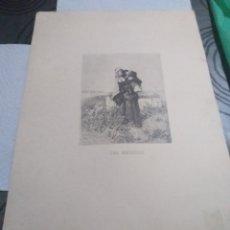 Arte: LAMINA UNA MENDIGA FORTUNY. Lote 161161365