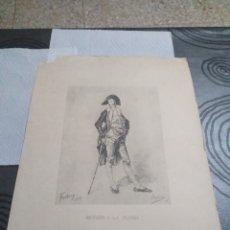 Arte: LAMINA RETRATO A LA PLUMA FORTUNY 1869. Lote 161162646