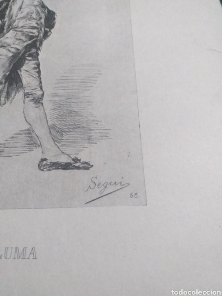 Arte: LAMINA RETRATO A LA PLUMA FORTUNY 1869 - Foto 3 - 161162646