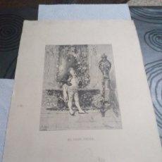 Arte: LAMINA EL VASO CHINO FORTUNY M SEGUI 1889. Lote 161162993