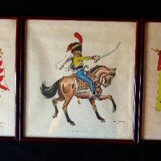 Arte: LAMINAS CON UNIFORMES MILITARES DE JOSE MARIA BUENO AÑO 67-68. Lote 164552778