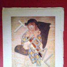 Arte: TUBAL PABLO PICASSO LAMINA ARLEQUIN. Lote 164606830