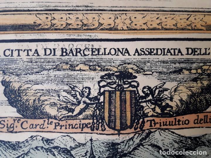 EL ASEDIO A BARCELONA (Arte - Láminas Antiguas)