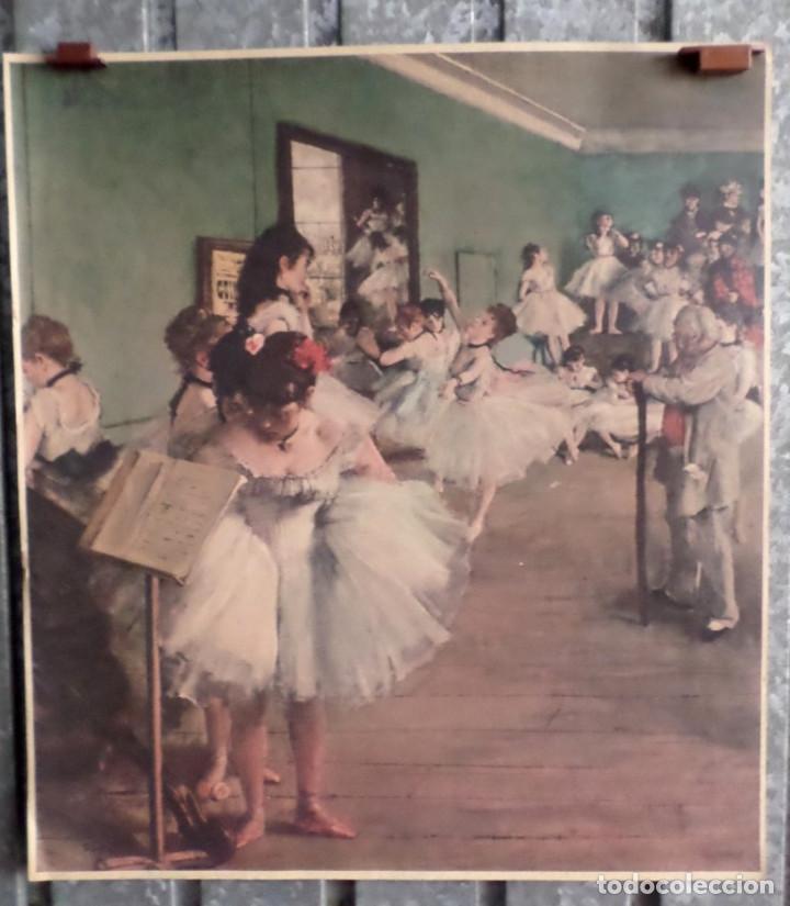CLASE BALLET -- FIRMA +/- DAGA (Arte - Láminas Antiguas)