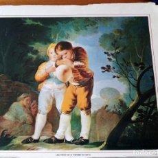 Arte: 5 LÁMINAS MUSEO DEL PRADO. LOS NIÑOS EN LA PINTURA DE GOYA.. Lote 165764302