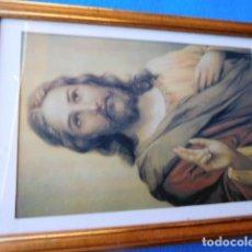 Arte: N. PADRE JESÚS , ENMARCADA EN CUADRO DE MADERA, 23 X 33 CM. CON PASSEPARTOUT Y CRISTAL. Lote 167529164
