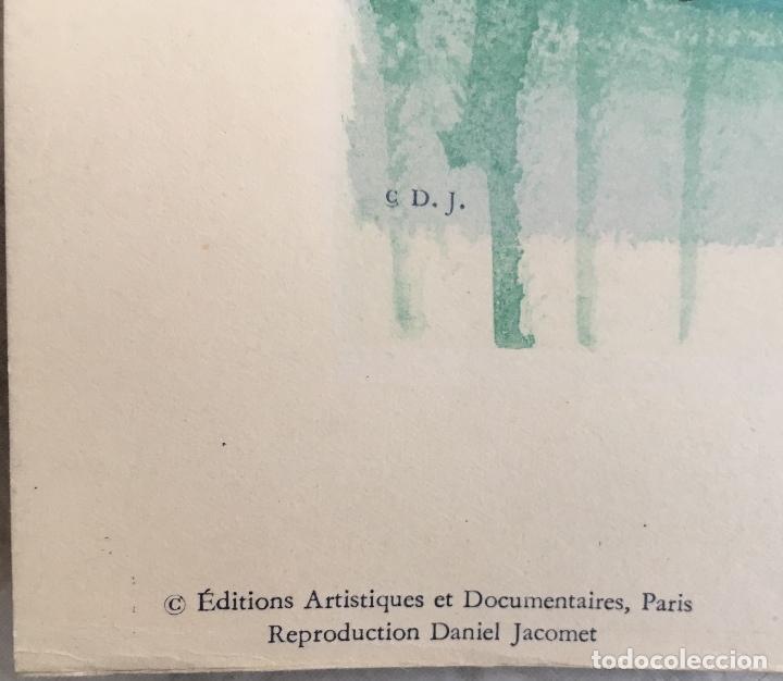 Arte: PAISAJE DE VENECIA. CARZOU. VENISE. LÁMINA EDITADA EN PARIS. - Foto 3 - 167542776