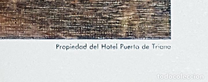 Arte: Lámina Puerta de Triana Sevilla.130x97 cms. - Foto 3 - 167980756