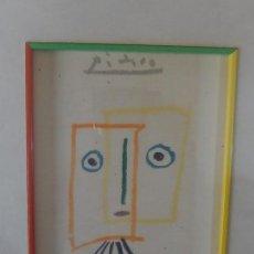 Arte: LÁMINA DE UN DIBUJO DE ¿PICASSO?. CON MARCO. SIN MÁS DATOS.. Lote 168060768