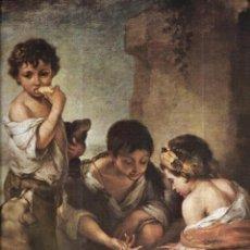 Arte: == L05 - LAMINA GENTILEZA DE LABORATORIOS MADE - BARTOLOME ESTEBAN MURILLO - NIÑOS JUGANDO A LOS DAD. Lote 168375960
