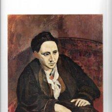 Arte: == L36 - LAMINA - PABLO PICASSO - GERTRUDE STEIN. Lote 168388272