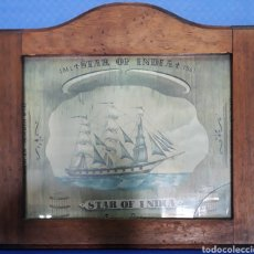 Arte: LAMINA ENMARCADA STAR OF INDIA 1861. Lote 169201669