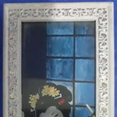 Arte: LAMINA ENMARCADA DAMA JAPONESA FIRMADO CONSTAN. Lote 169246797
