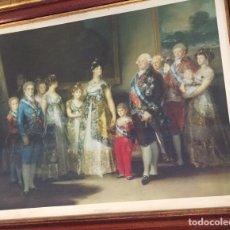 Arte: CUADRO XXL, LAMINA LA FAMILIA DE CARLOS V -GOYA. Lote 169412252
