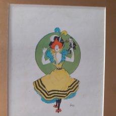 Arte: BURLESQUE. LAMINA PRINCIPIOS S.XX.. Lote 169539430