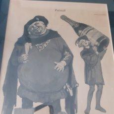 Arte: PUBLICIDAD CHAMPAGNE. FALSTAFF. FINALES S.XIX. ENMARCADA. Lote 169544294