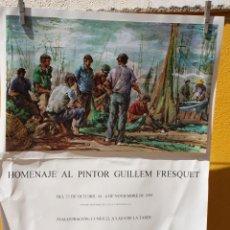 Arte: GRAN LÁMINA DE HOMENAJE A GUILLEM FRESQUET EN GALERÍA SEGRELLES DEL PILAR. Lote 170131080