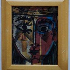 Arte: LAMINA INÉDITA PICASSO - PAPEL ACUARELA 300 GRAMOS ENMARCADO 32,5 X 27,5. Lote 57330218