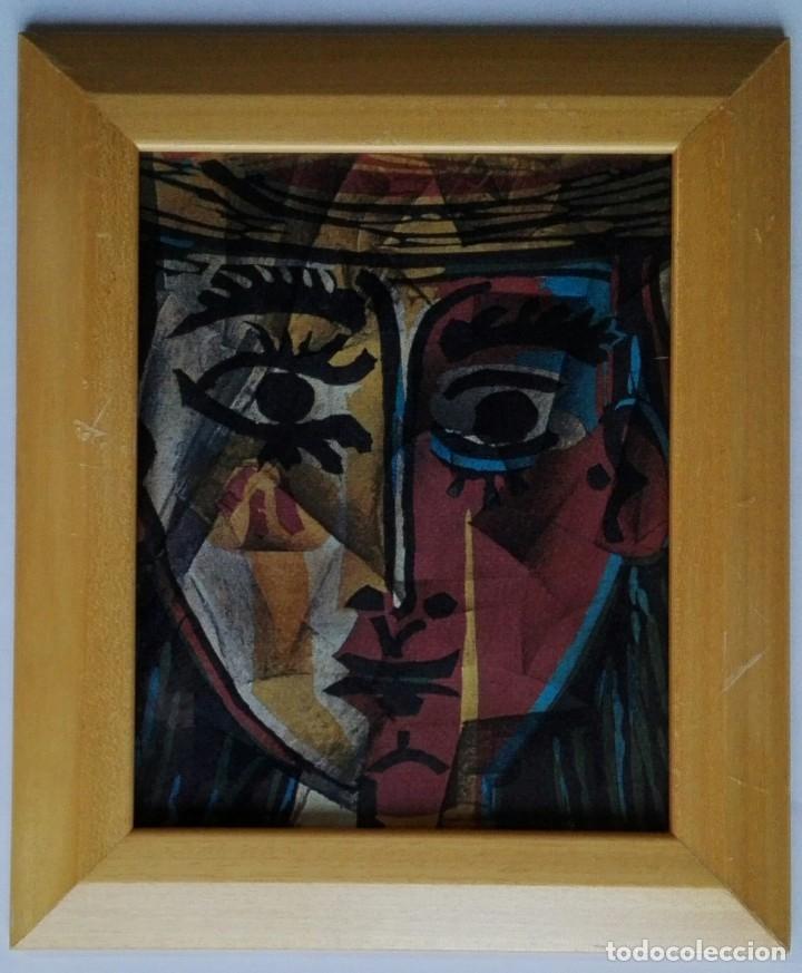 Arte: LAMINA INÉDITA PICASSO - PAPEL ACUARELA 300 GRAMOS ENMARCADO 32,5 X 27,5 - Foto 3 - 57330218