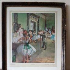 Arte: ANTIGUO CUADRO DE DANSLES, EDGAR DEGAS, GALERIE DU JEU DE PAUME - PARIS, TAL CUAL SE VE.. Lote 170557032
