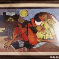 """Arte: CUADRO LÁMINA """"VERANEO"""" CANDELA 57. Lote 170850885"""