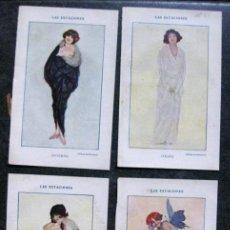 Arte: ILUSTRACION KIRCHNER . ART NOUVEAU LAS ESTACIONES . 4 LÀMINAS ANTER 1920. Lote 171200115