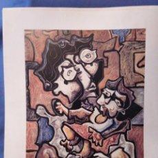 Arte: LAXEIRO. MATERNIDADE 1968. (27X33CM). Lote 171618763