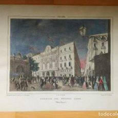 Arte: DOS LÁMINAS FACSÍMIL DEL LICEO DE BARCELONA Y SU PUERTO. Lote 171668842