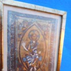 Arte: CERCO DE MADERA DE 20 X 26 CM, CON ALEGORIA RELIGIOSA. Lote 171775169