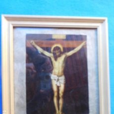 Arte: CERCO DE MADERA DE 26 X 30 CM, CRISTO CRUCIFICADO. Lote 171839910