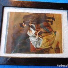 Arte: CERCO ESPECIAL DE MADERA DE 24 X 30 CM, ENFERMA DE AMOR.. Lote 172010683