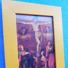 Arte: CRISTO CRUCIFICADO , CUADRO DE MADERA 13 X 23 CM,, . Lote 172026555