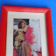 Arte: RETRATO DE SARA MONTIEL, CUADRO DE MADERA 30 X 39 CM . Lote 172167585