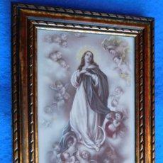 Arte: INMACULADA, CUADRO DE MADERA 21 X 33 CM . Lote 172167810