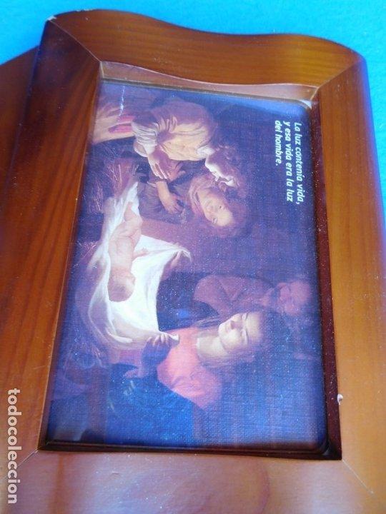 ADORACIÓN, MARCO DE MADERA 12 X 27 CM (Arte - Láminas Antiguas)