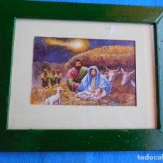 Arte: NACIMIENTO DE JESÚS. MARCO DE MADERA 22X27 CM. Lote 172175838